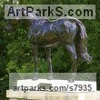 Bronze Garden Or Yard / Outside and Outdoor sculpture by sculptor Edward Waites titled: 'Stallion (Dubawi)' - Artwork View 3
