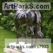 Bronze Garden Or Yard / Outside and Outdoor sculpture by sculptor Edward Waites titled: 'Stallion (Dubawi)' - Artwork View 5