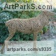 WILLOW/Steel bar. Deer sculpture by Emma Walker titled: 'life size WILLOW STAG'