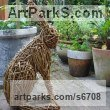 Willow Garden Or Yard / Outside and Outdoor sculpture by sculptor Emma Walker titled: 'Willow HARE no.2 (Woven Willow garden/Yard statue/sculpture/For sale)' - Artwork View 3