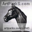 Bronze Horse Sculpture / Equines Race Horses Pack HorseCart Horses Plough Horsess sculpture by sculptor Enzo Plazzotta titled: 'Horses Head (small bronze sculpture/Bust/statue/statuette for sale)'