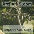 "bronze sculpture of females by Enzo Plazzotta titled: ""Jane"""