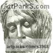 Bronze Portrait Sculptures / Commission or Bespoke or Customised sculpture by sculptor Enzo Plazzotta titled: 'Jesus Christ Mask II (Bronze Death Mask sculptures)'