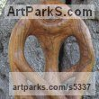 Olive wood Mythical sculpture by sculptor Eric Kempson titled: 'Cyclops (abstract olive wood carving)' - Artwork View 1