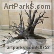Bronze Conceptual Art sculpture often Large or Monumental Abstract Art by sculptor Fanny Lam Christie titled: 'Storm (bronze wind-blown tree root award Winning sculpture)'