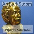 Bronze Stylised Heads / Busts sculpture by sculptor Felix Velez titled: 'Albert E. (Albert Einstein Portrait/Bronze sculpture, Bronze bust)'