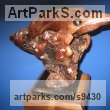 Manzanita wood Carved Wood sculpture by Felix Velez titled: 'Little Heron sculpture (Carved Drift Wood abstract)'