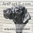 Waxed clay for Bronze Animal Birds Fish Busts or Heads or Masks or Trophies For Sale or Commission sculpture by Fernando Collado titled: 'German Pointer - Guinness (Bronze Head Bust statue)'