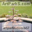 Copper Garden Or Yard / Outside and Outdoor sculpture by sculptor Gary Pickles titled: '1.5m Norway Maple Fountain (Copper Pond sculptures)' - Artwork View 5