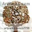 Copper Wall Mounted or Wall Hanging sculpture by sculptor Gary Pickles titled: 'Love Tree - copper memory tree sculpture'