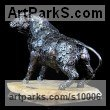 Metal Small Animal sculpture by Georgie Poulariani titled: 'Limitless (Small Fighting Bull Steel sculpture)'