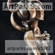 Bronze Females Women Girls Ladies sculpture statuettes figurines sculpture by sculptor G�za G�sp�r titled: 'Creation#13 (Contemporary/abstract/Stylised Nightclub Girl statuette)'