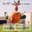 Concrete Playground Art Fantasy or Cartoon sculpture by sculptor Gil Sadeh titled: 'Bird (Big Bold Colourful abstract Modern Contemporary sculpture)'
