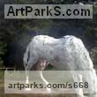 Plaster on Aluminium armature for bronze Horses Outdoors, Outside, Life Size, Big, Large, Huge sculpture memorials commissions custom made sculpture by sculptor Gill Brown titled: 'Life-size Horse'