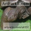 Bronze Wild Animals and Wild Life sculpture by sculptor Gill Parker titled: 'Galapagos Tortoise (Bronze life size Walking garden sculpture/statue)'
