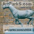 Cold cast bronze Small Animal sculpture by Graham High titled: 'Running Horse (Small Indoor sculpture for sale)'