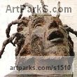 "bronze Sculpture of Men by Guy Portelli titled: ""Lion of Zion (Bob Marley Contemporary Modern Portrait Head bronze Bust)"""