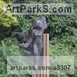Bronze on wood Clothes Dresses Gowns Shirts etc sculpture sculpture by sculptor Hans Koenen titled: 'The Phantom (bronze female in WornRagged clothing garden statue)' - Artwork View 3
