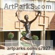 Human Figurative sculpture by sculptor Heidi Hadaway titled: 'Nelspruit Girl`s High (Commission Portrait Commemorative bronze)'