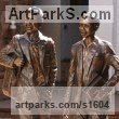 Bronze Portrait Sculptures / Commission or Bespoke or Customised sculpture by sculptor Heidi Hadaway titled: 'St Johns Boys (bronze Public Art Commission sculpture)'