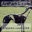 Scrap metal Dogs sculpture by Helen Denerley titled: 'Smokie (Metal life size Lurcher sculpture/statue)'