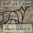 Steel Dogs sculpture by sculptor Henrietta Bud titled: 'Man`s Best Friend the Labrador (Steel Outline sculpture)'