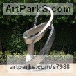 Stainless steel Spiral Twisted sculpture / statue / carving sculpture by sculptor Hunter Brown titled: 'Mobius'