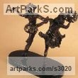 Bronze Dance Sculptures and Ballet sculpture by sculptor ione Citrin titled: 'Pas de Deux'