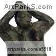 Bronze Human Figurative sculpture by sculptor Isabelle Biquet titled: 'La Naiade (Bronze abstract nude Woman stylised contemporary sculptures)'