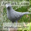 Chicken Wire Wild Bird sculpture by sculptor Ivan Lovatt titled: 'Crow (Wire Mesh Standing life size Corvid garden statue)'