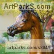 Bronze Pet and Animal Portrait Custom or Bespoke or Commission Commemorative or Memoriaql sculpture statue sculpture by J Anne Butler titled: 'Dream of Spring (life size Arabian Filly sculpture)'