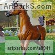 Bronze Garden Or Yard / Outside and Outdoor sculpture by sculptor J Anne Butler titled: 'Dream of Spring (life size Arabian Filly sculpture)' - Artwork View 3