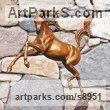 Bronze Polo Pony and Pony sculpture / statue / statuette / figurine / ornament Portraits Commissions Memorials sculpture by J Anne Butler titled: 'Sunshine Dancer (Bronze Arabian horses sculptures)'