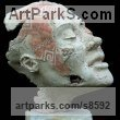 Ceramic Busts and Heads sculpture statuettes Commissions Bespoke Custom Portrait Memorial Commemorative sculpture or sculpture by sculptor Jacek OPAŁA titled: 'Pompei IV (Shabby Chic ceramic Face Bust Head statues)'