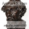 Painted plaster polymer Famous People sculpture sculpture by sculptor James Matthews titled: 'Charles Dickens (Portrait Face Head Bust sculpture statuettes)' - Artwork View 2