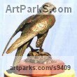 Bronze Birds of Prey / Raptors sculpture by sculptor Jan Sweeney titled: 'Peregrine'