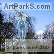 Clear acrylic resin Water Features, Fountains and Cascades sculpture by sculptor Jane Robbins titled: 'Water feature ice angel'