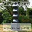 Stone Geometric Sculpture Statues statuary statuettes. Usually Abstract Contemporary Modern work sculpture by Jason Mulligan titled: 'Every Cloud (abstract Carved Black garden statue)'