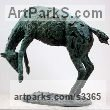 Bronze Horses Small, for Indoors and Inside Display sculpturettes Sculptures figurines commissions commemoratives sculpture by sculptor Jill Tweed titled: 'RODEO (Small Bronze Bucking Bronco/Horse statuette/statues)'