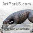 Bronze Dogs sculpture by sculptor Jill Tweed titled: 'Hound (Bronze Fox Hound or Pet Dog sculpture/statue/commission)'