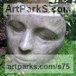 Bronze Portrait Sculptures / Commission or Bespoke or Customised sculpture by sculptor Jilly Sutton titled: 'The Sleeper (Large Bronze Lovely Womans Face statues/masks/sculptures)'