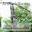 Bronze Sign of the Zodiac sculpture by Jiř� Net�k titled: 'Archer (nude Bronze Standing Bowman garden sculptures)'