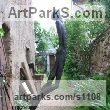 Bronze Abstract Contemporary or Modern Outdoor Outside Exterior Garden / Yard sculpture statuary sculpture by sculptor Jiří Netík titled: 'Poet (Bronze Tall Thin abstract Stylised Male garden sculpture)' - Artwork View 1