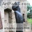 Bronze Abstract Contemporary Modern Outdoor Outside Garden / Yard sculpture statuary sculpture by sculptor Jiří Netík titled: 'Poet (Bronze Tall Thin abstract Stylised Male garden sculpture)' - Artwork View 2