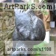 Bronze Abstract Contemporary Modern Outdoor Outside Garden / Yard sculpture statuary sculpture by sculptor Jiří Netík titled: 'Poet (Bronze Tall Thin abstract Stylised Male garden sculpture)' - Artwork View 3