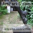 Bronze Abstract Contemporary Modern Outdoor Outside Garden / Yard sculpture statuary sculpture by sculptor Jiří Netík titled: 'Poet (Bronze Tall Thin abstract Stylised Male garden sculpture)' - Artwork View 4