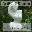 Hand made marble/ mineral stone Abstract Modern Contemporary Avant Garde sculpture statuettes figurines statuary both Indoor Or outside sculpture by sculptor Jo Ansell titled: 'Allure- (Contemporary Carved stone abstract Woman`s Torso carving)'