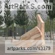 Granite and Marble Carved Abstract Contemporary Modern sculpture carving sculpture by sculptor John Atkin titled: 'Strange Meeting (Massive abstract Public Art sculpture)' - Artwork View 2