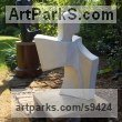 Reconstituted Bath Stone Abstract Contemporary Modern Outdoor Outside Garden / Yard sculpture statuary sculpture by sculptor John Brown titled: 'Ascent'