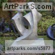 Bronze Resin Couples or Group sculpture by sculptor John Brown titled: 'Duo lll (Modern abstract Couple Sitting garden statues)'